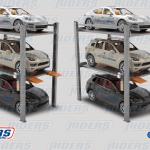 ¿Qué tipo de vehículos puedo estacionar en un Multiplicador de espacios?